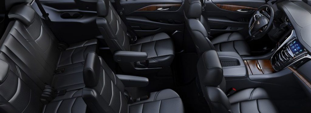 interior of a luxury suv rental