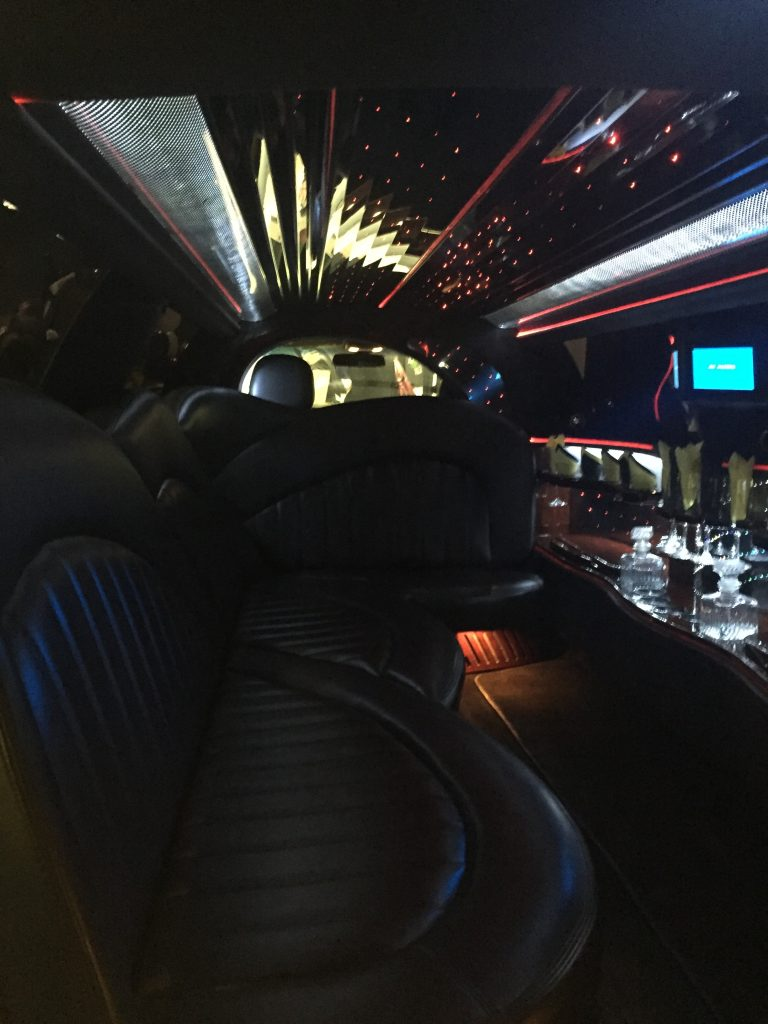 inside of our party bus